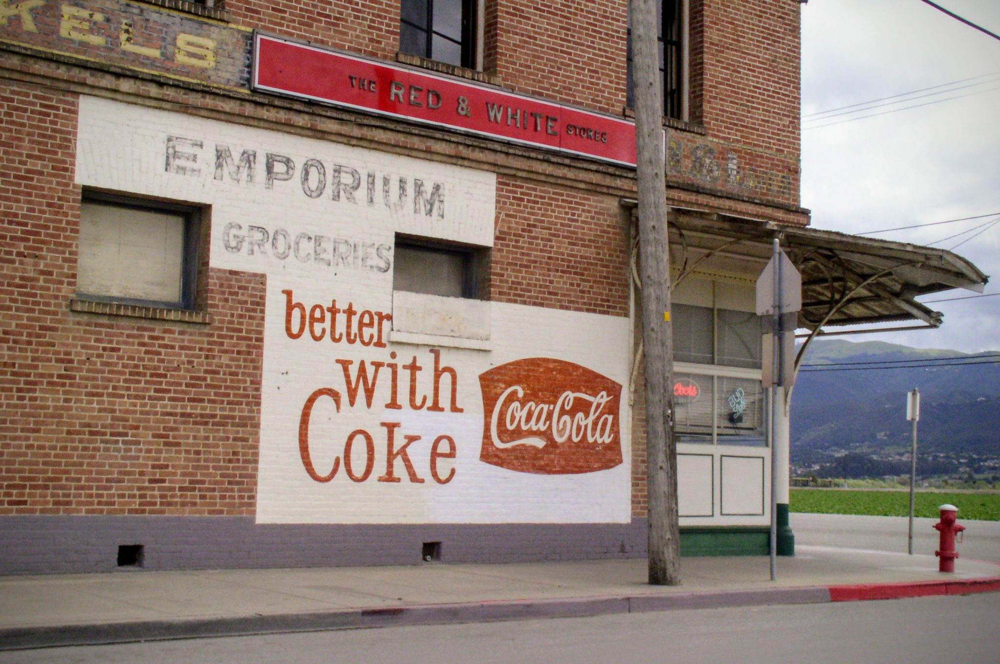 Hand Painted Coke Sign